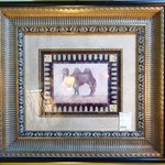 1-8234 Matted and Framed Camel Print