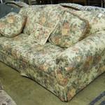 1-18461 Beige Floral Sofa