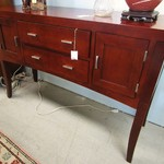 1-19409 Modern Buffet with Silver Pulls