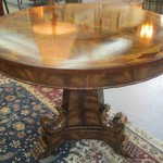 1-20135 Marquetry Wood Table