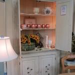 1-20664 White Corner Cabinet With Light