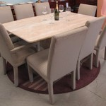 1-2122 Omni Stone  Table With 8 Chairs