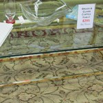 1-21273 Brass And Glass Coffee table