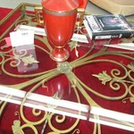 1-1504 Large Ornate Glass Coffee Table