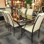 1-21642 Perlora Table With 6 Chairs And Built In Leaf