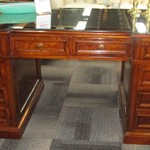 121708 Italian Made Executive Desk With Leather Top