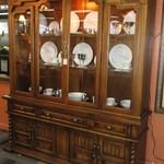 1-21605 Large Wood China Cabinet