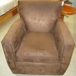 1-21716 Crate And Barrel Brown Swival  Chair