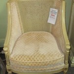 1-12826 Upholstered Cane Chair