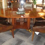 1-21926 Henredon Table With One Leaf And Pads And  6 Drexel Chairs