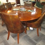 1-21926 Henredon Table With  1 Leaf Pads And 6 Drexel Chairs ( Would Make An Outstanding Conference Table)