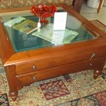 1-21891 Ethan Allen Shadow Box Coffee Table