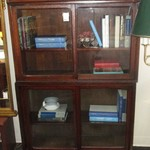 1-21856  Barrister Wood And Glass Bookcase