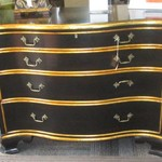1-22059  Century 4 Drawer Chest With Gold Trim ( NEW)