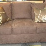 1-22305 Brown Micro suede Sofa