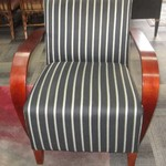 1-22202 Striped Arm Chair