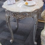 1-22396  Marble Top End Table