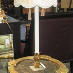 1-22397 French Table Lamp With Designer Shade