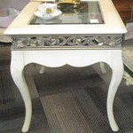 121753 White End Table