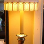1-21954  Black And Brass Buffet Lamp