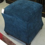 1-22229  Teal Storage Ottoman