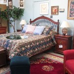 1-22456  Queen Bed Dresser With Mirror Chest And Two Nightstands