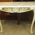 1-22458 White Marble Top Sofa / Entrance Table
