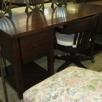 1-22372 Large Wood Desk With File Drawer