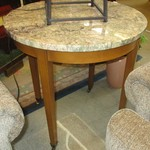 1-22442  Marble Top Round Accent Table