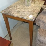 1-22444  Marble Top End Table