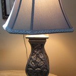 1-21662  Gray Stiffel Table Lamp