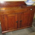 1-22637  Primitive Antique Dry Sink With Copper Liner