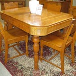 1-22903  Oak Table With 4 Chairs