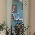 1-22887 Tall Wood Mirror