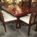 1-22910  Hickory White Table With 8 Drexel Chairs