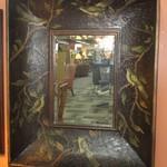 1-22926  Large Wood Frame Mirror