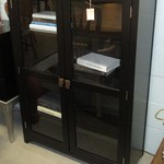 1-22228  Black And Glass Bookcase