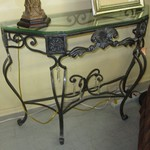 1-23095  Glass Top Entrance Table