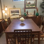 1-22286 Lane MidCentury Dining Room Table and 6 Chairs