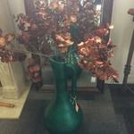 1-23266 Green Floor Vase