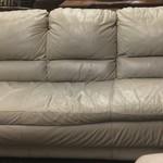 1-23418 Leather Sofa- Beige