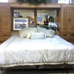 23552 King Bed Frame, Dresser w/Mirror, Nightstand, Armiore