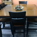 23499 High-top Dining Table w/ 1 Leaf and 6 Chairs