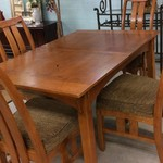 23811 Oak Dining Table w/ 4 Chairs