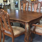 1-24180 Dining Room Table, 6 Chairs