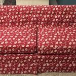 1-24067 Upholstered Red Sofa