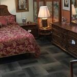 1-24216 Thomasville King Bedroom Set, Frame, Chest, Dresser w/ Mirror, 2 Nightstands