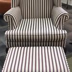 1-24332 Sherrill Wingback Chair & Ottoman