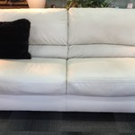 1-23997 White Leather Sofa