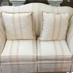 1-24085 White Camel Back Loveseat